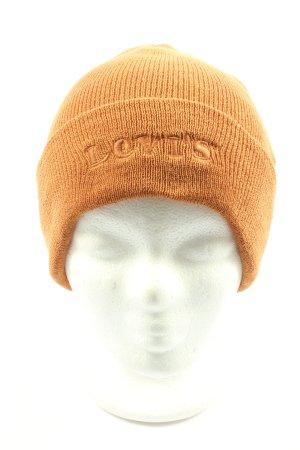 Levi's Bonnet orange clair lettrage brodé style décontracté