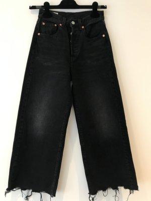 Levi's Vaquero de talle alto taupe-negro tejido mezclado