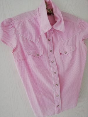 Levis Blouse en jean blanc-rose clair coton