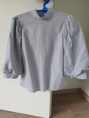 Levi's Blouse à col montant blanc-bleu pâle coton