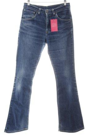 Levi's Boot Cut Jeans dunkelblau Jeans-Optik