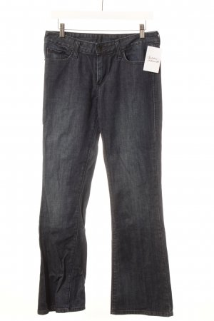 Levi's Jeansy o kroju boot cut ciemnoniebieski Logo wykonane ze skóry