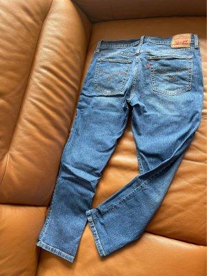 Levi Strauss & Co Jeansy typu boyfriend stalowy niebieski
