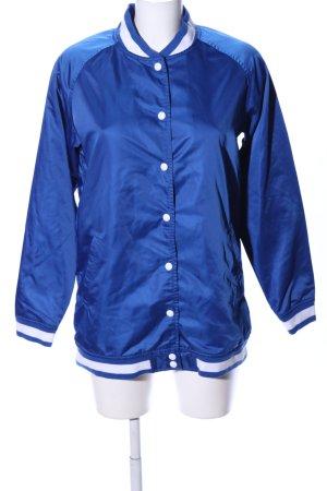 Levi's Chaqueta estilo universitario azul-blanco estampado a rayas look casual