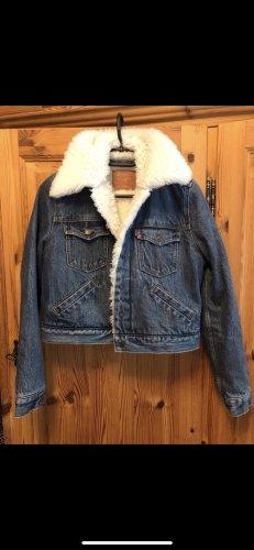 Levi's crop jeans jacke mit fell