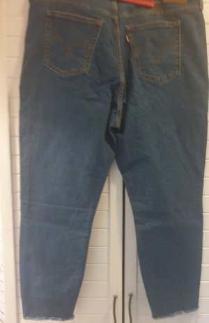 Levis Stretch jeans staalblauw-korenblauw