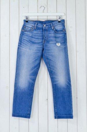 LEVI'S Damen Jeans 501 Denim Baumwolle Blau Vintage-Style Gr.W28/L27