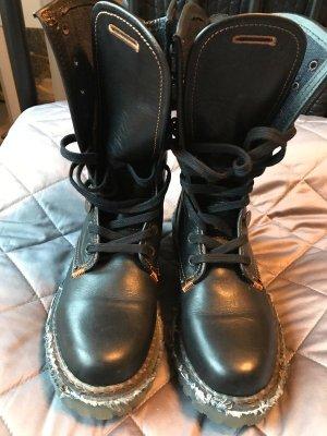 Levi's Botas con cordones negro Cuero