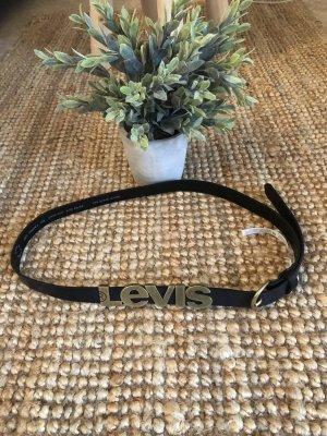 Levi's Cinturón de cuero negro