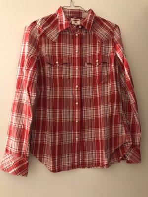 Levi's Shirt met lange mouwen wit-rood