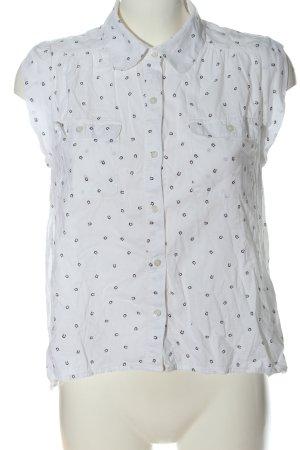 Levi's Hemd-Bluse weiß-schwarz Allover-Druck Casual-Look