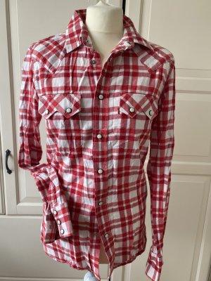 Levi's Koszula w kratę czerwony-w kolorze białej wełny Bawełna