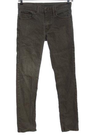 Levi's Pantalón de cintura alta negro moteado look casual