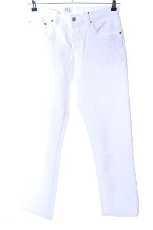 Levi's Vaquero de talle alto blanco look casual