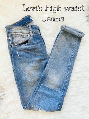 Levi's Hoge taille jeans leigrijs-blauw