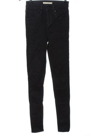 Levi's Jeans a vita alta nero stile casual