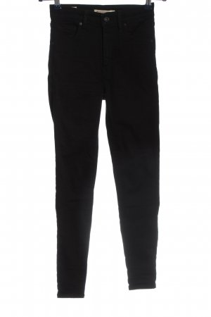 Levi's High Waist Jeans black casual look