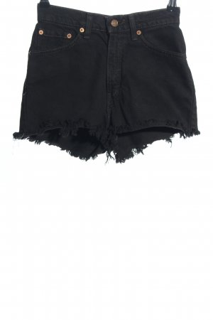 Levi's High-Waist-Shorts schwarz Casual-Look