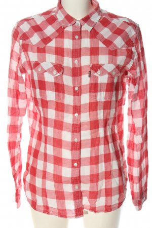 Levi's Holzfällerhemd rot-weiß Karomuster Casual-Look