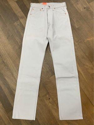 Levi's Jeansy z prostymi nogawkami w kolorze białej wełny