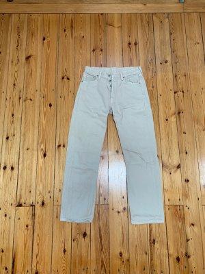 Levi's Pantalon boyfriend blanc cassé-crème