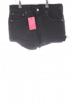 Levi's Hot Pants schwarz Destroy-Optik