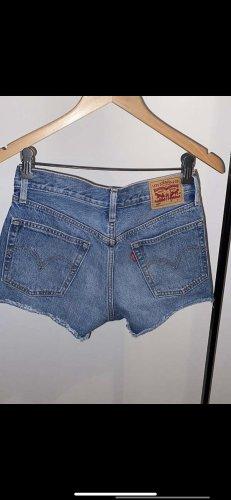 Levi's Short moulant bleu coton