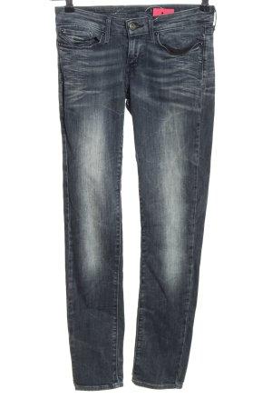 Levi's pantalón de cintura baja azul tejido mezclado
