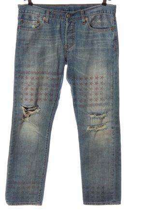 Levi's Jeans taille basse bleu imprimé avec thème style décontracté