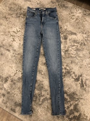 Levi's Jeans a vita alta blu acciaio-azzurro