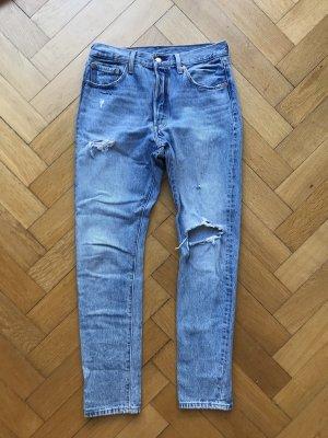 Levi's Jeans met rechte pijpen azuur
