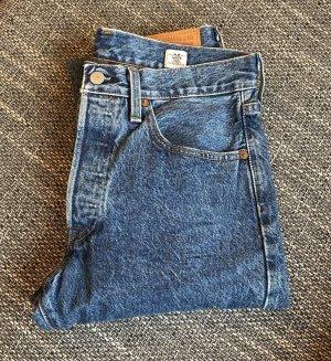 Levi's Jeansy z wysokim stanem stalowy niebieski Bawełna