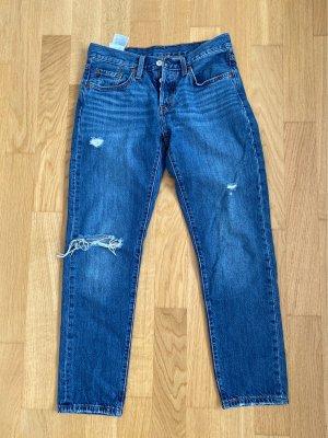 Levis 7/8-jeans blauw