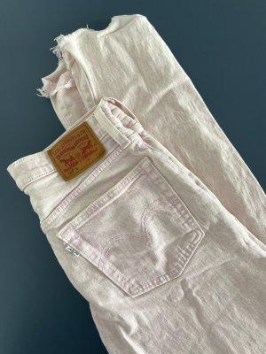 Levi's Jeans taille haute rosé-rose clair coton
