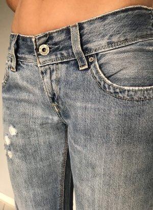 Levi's Spodnie z pięcioma kieszeniami błękitny