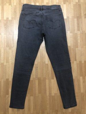 Levi's Jeans 710 Super Skinny dunkelgrau Mid-Rise Größe 27
