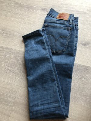 Levi's Skinny Jeans dark blue-cornflower blue mixture fibre
