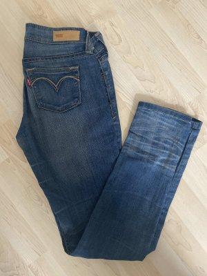 Levi's Jeans vita bassa azzurro Cotone