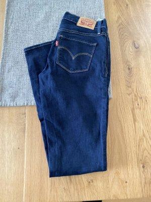 Levi's Jeansy o obcisłym kroju ciemnoniebieski