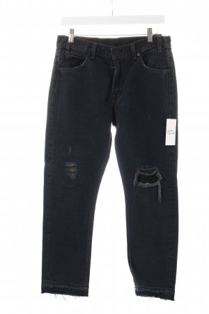 Levi's Jeans dunkelblau-grau Logo-Applikation aus Leder