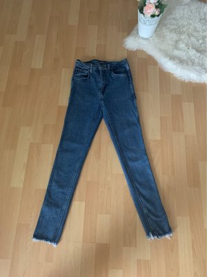 Levi's Jeans a vita alta blu scuro Cotone