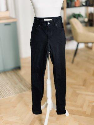 Levi's Jeans a vita alta nero Cotone