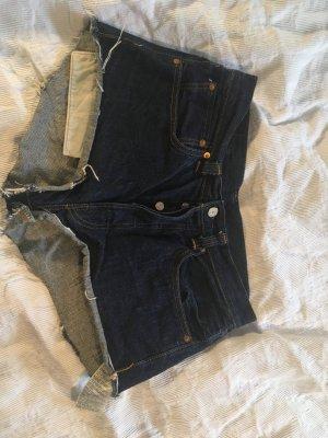 Levi's Pantaloncino a vita alta blu-blu scuro