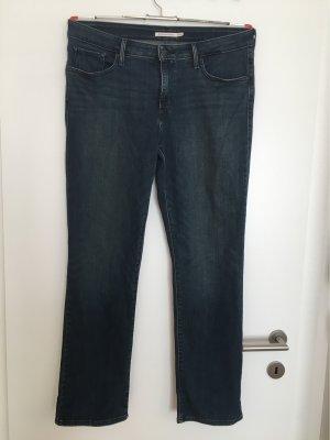 Levi's Jeansy z prostymi nogawkami ciemnoniebieski-stalowy niebieski Bawełna