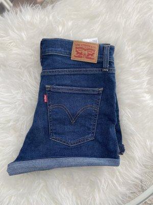 Levis Pantalón corto de talle alto azul