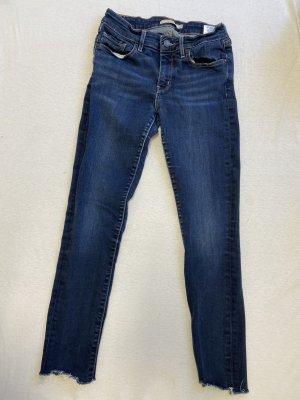 Levi's Pantalone a 7/8 blu scuro Cotone