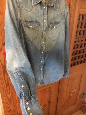 Levi's® Jeansbluse/Jeanshemd - blau - Modern Western - S - Ohne Gebrauchsspuren