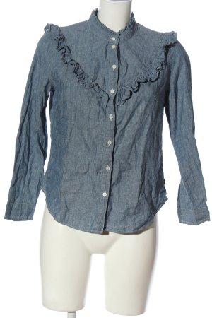 Levi's Camicia denim blu puntinato stile casual