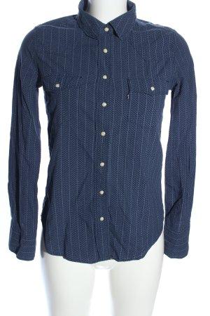 Levi's Camisa vaquera azul estampado a lunares estilo «business»