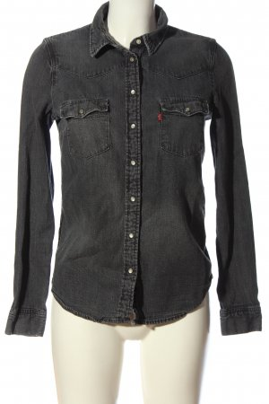 Levi's Camicia denim nero puntinato stile casual